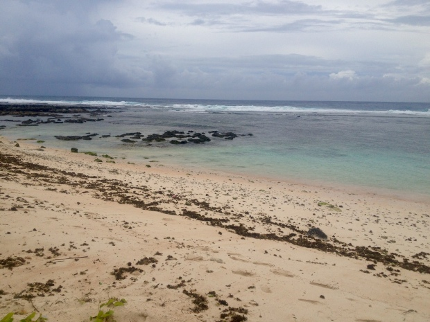 Post-typhoon Tanguisson Beach