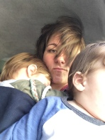 Taxi ride. They're not huge on car seat safety. D: